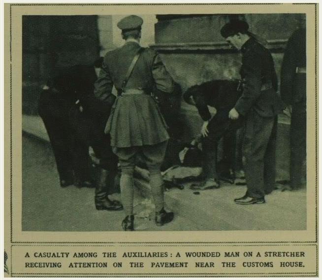 Auxy wounded Burning of Dublin Custom House 1921