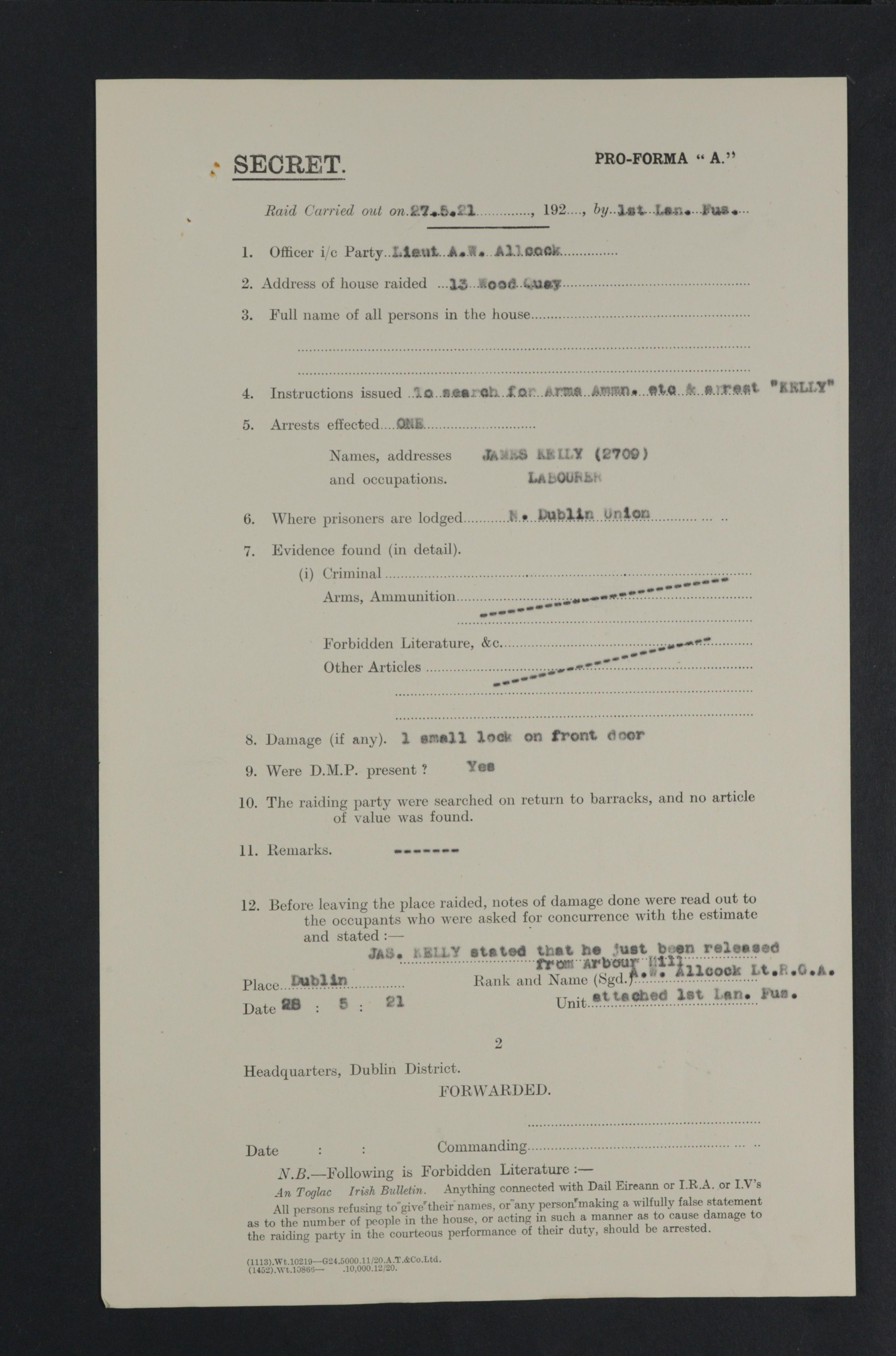 james-kelly-ire-wo35-85-00530 Burning of Dublin Custom House 1921