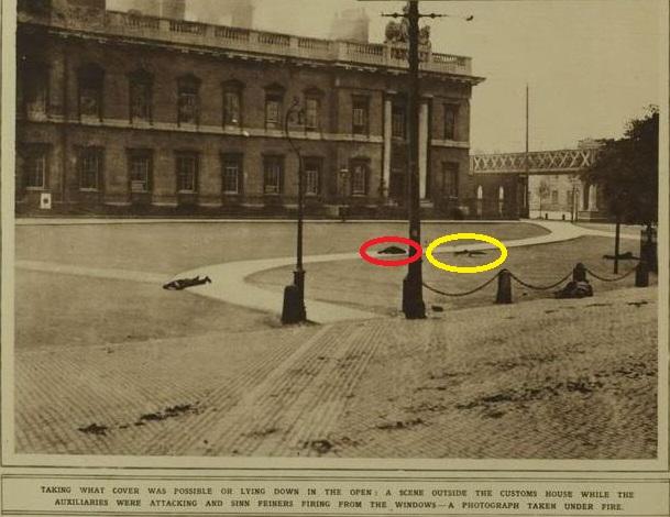 john-byrne-bike-on-plaza Burning of Dublin Custom House 1921