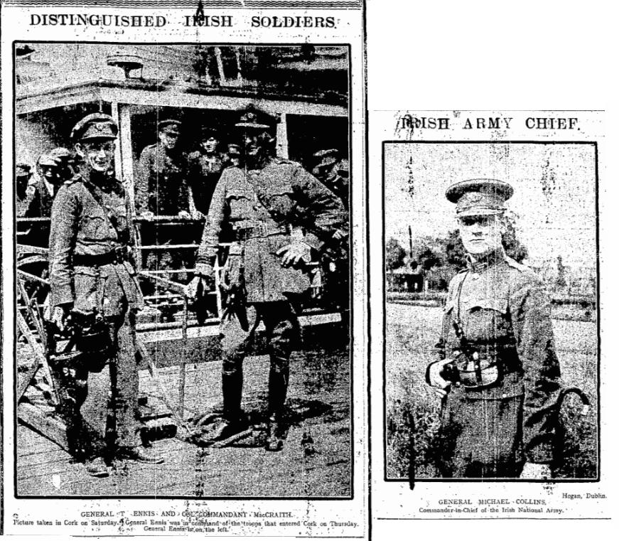 distinguished-irish-soldiersr Burning of Dublin Custom House 1921