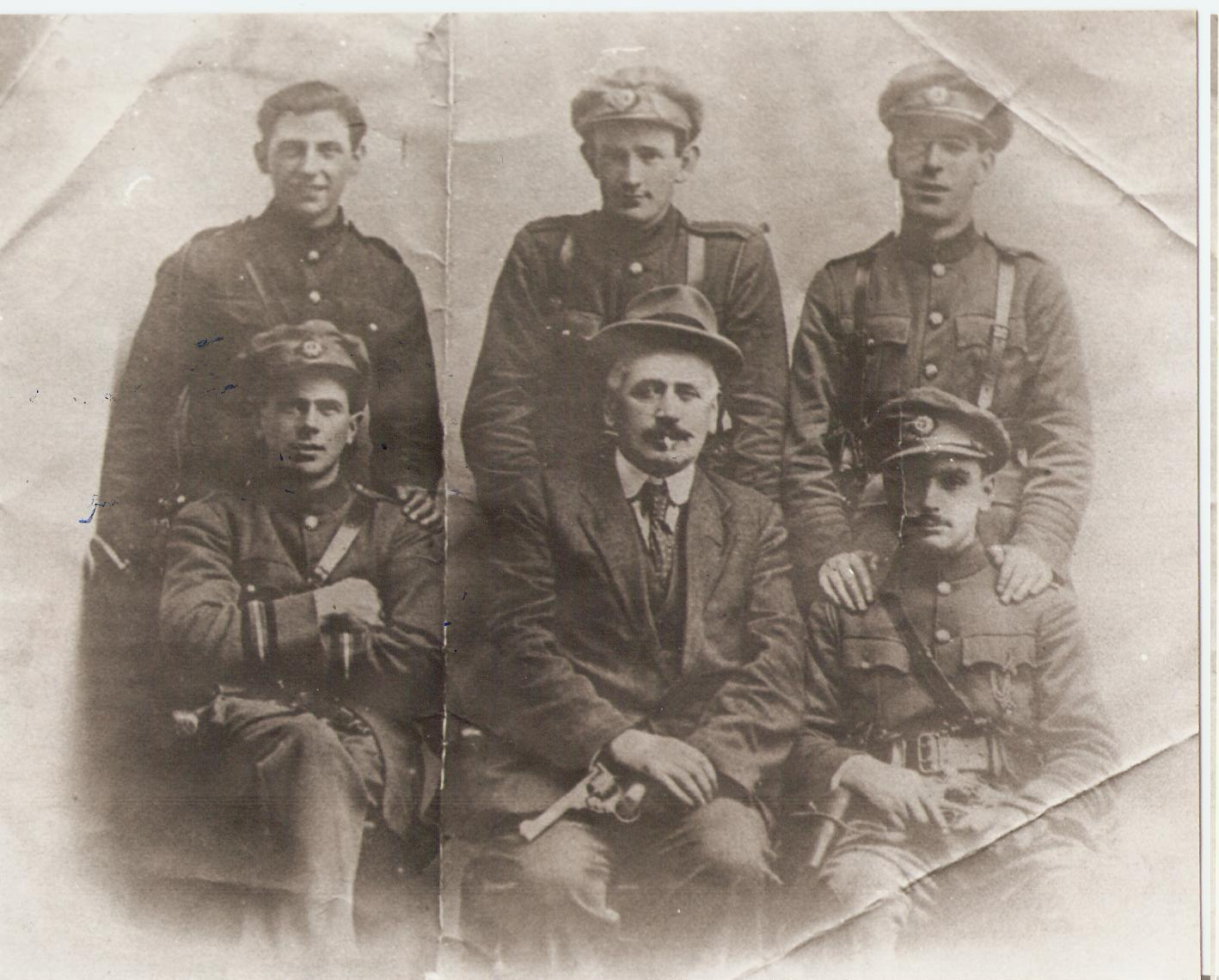 Soldiers x 6 Keogh slattery, Joe Dolan etc Burning of Dublin Custom House 1921