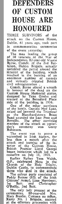 Vinny 1982 Burning of Dublin Custom House 1921