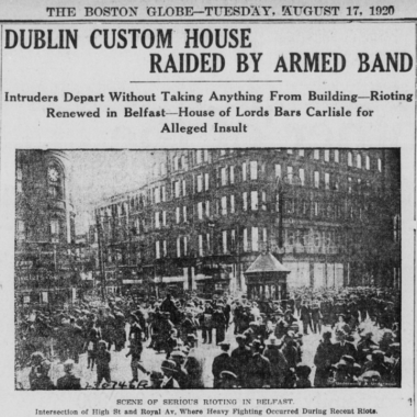 Centenary – Raid on the Custom House, 1920.
