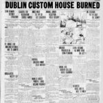 Burning Dublin Custom House