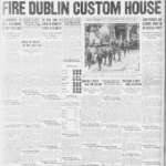 Dublin Custom House Burning